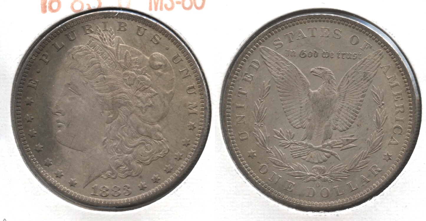 1883-O Morgan Silver Dollar MS-60 #m