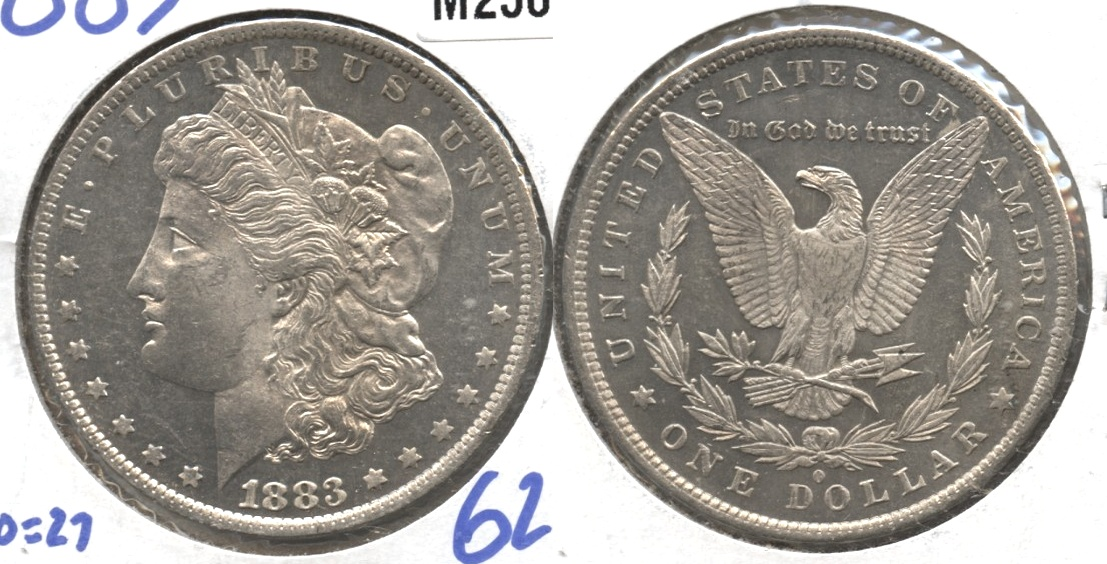 1883-O Morgan Silver Dollar MS-61 #b Prooflike
