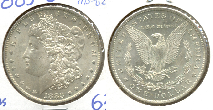 1883-O Morgan Silver Dollar MS-62
