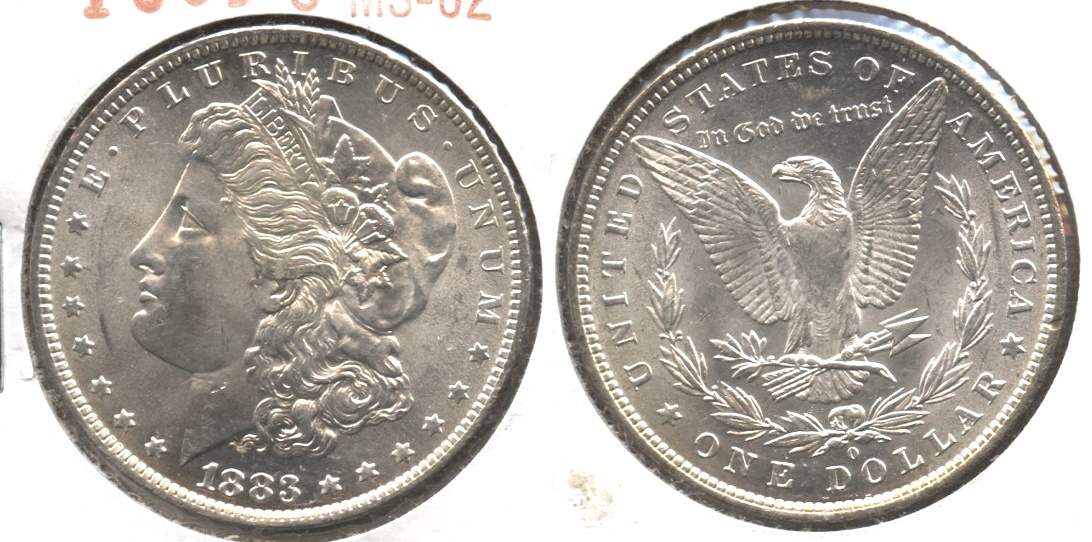 1883-O Morgan Silver Dollar MS-62 #l