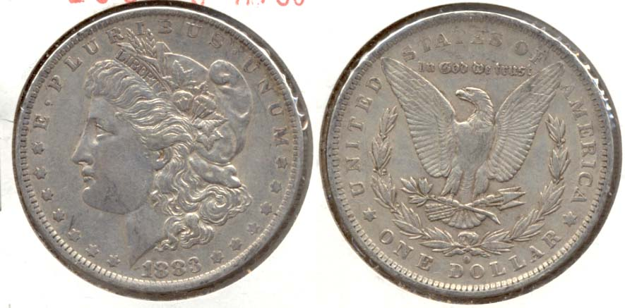 1883-O Morgan Silver Dollar VF-30 b