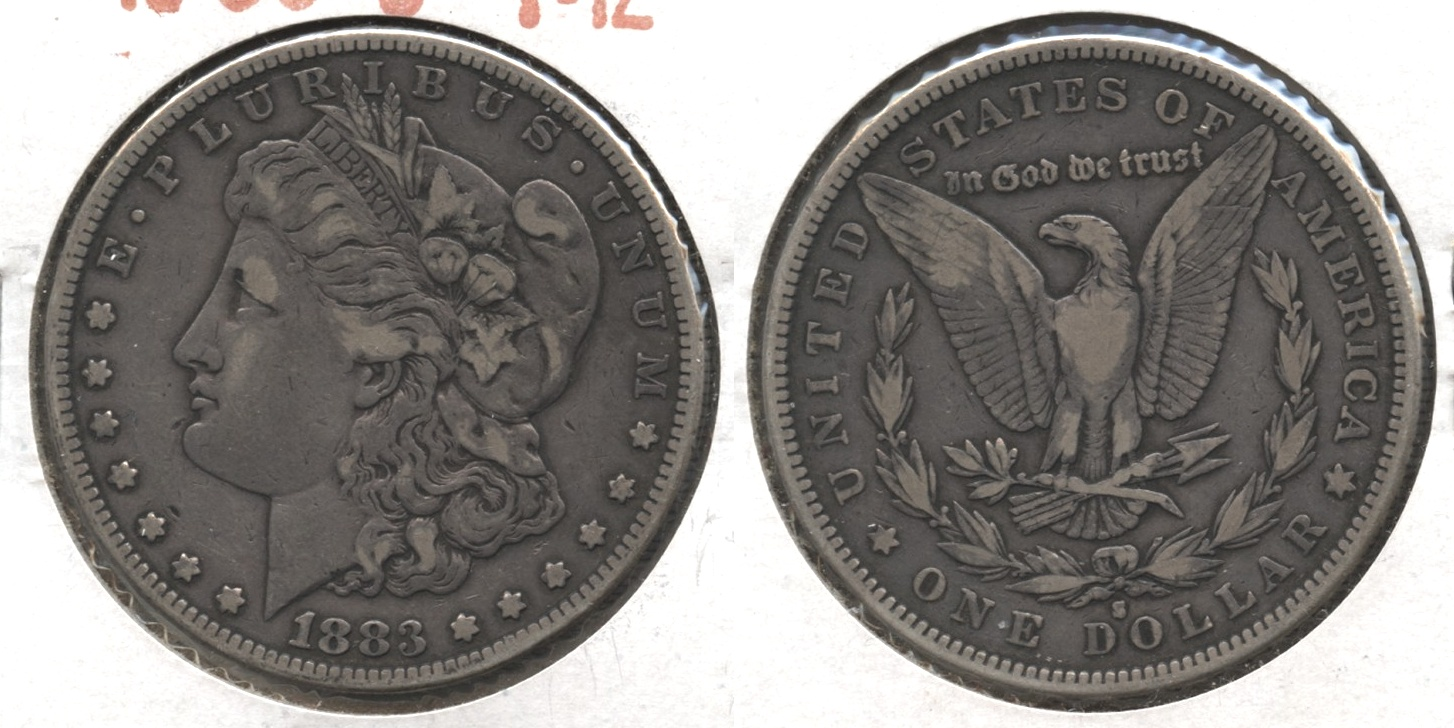 1883-S Morgan Silver Dollar Fine-12