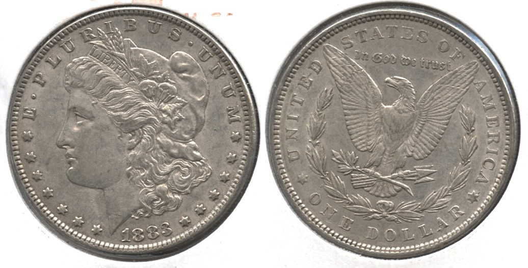 1883 Morgan Silver Dollar EF-40 #k