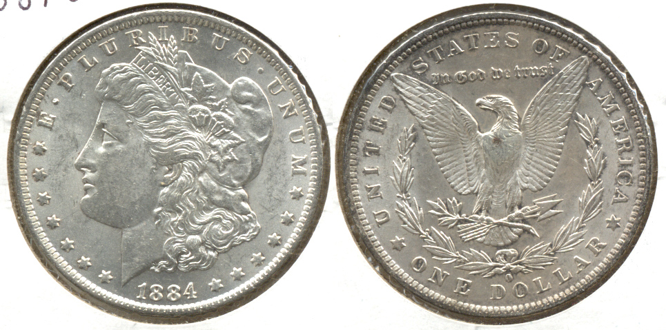 1884-O Morgan Silver Dollar AU-55 e