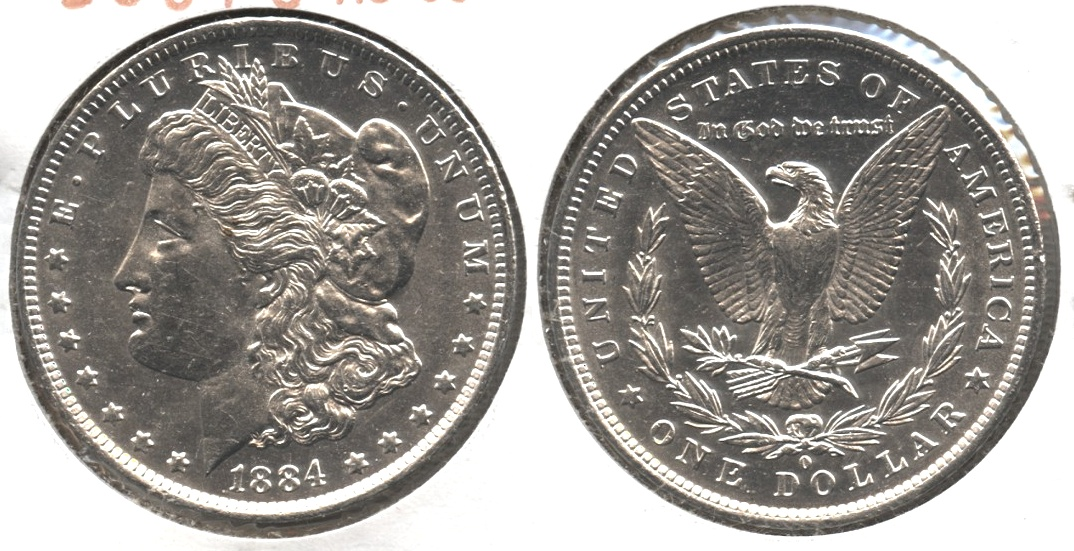 1884-O Morgan Silver Dollar AU-55 #i