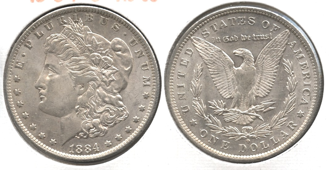 1884-O Morgan Silver Dollar AU-55 #j