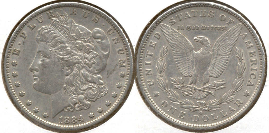 1884-O Morgan Silver Dollar EF-40 d