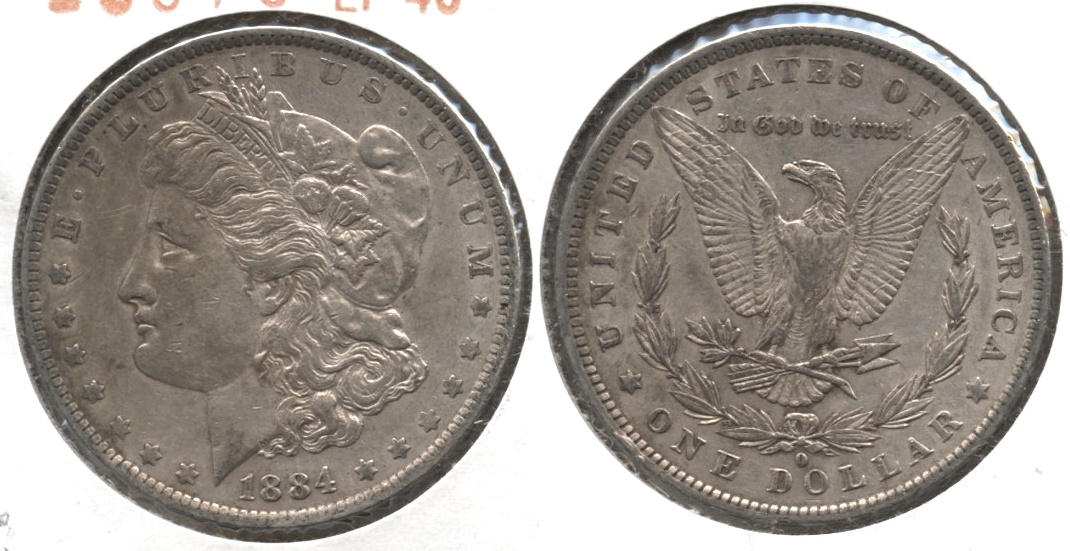 1884-O Morgan Silver Dollar EF-40 #j