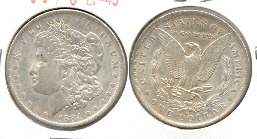 1884-O Morgan Silver Dollar EF-45 a