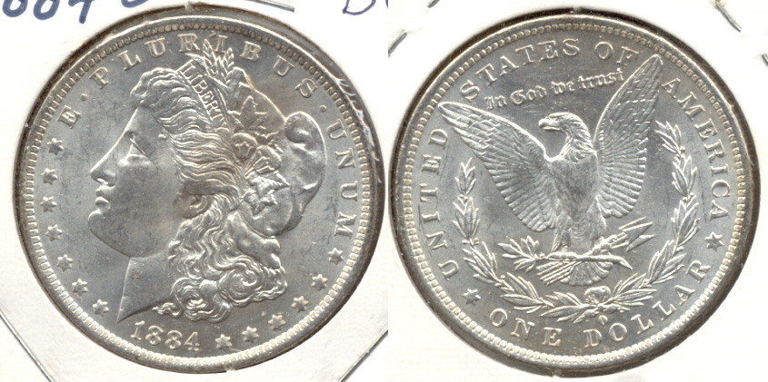 1884-O Morgan Silver Dollar MS-60 b