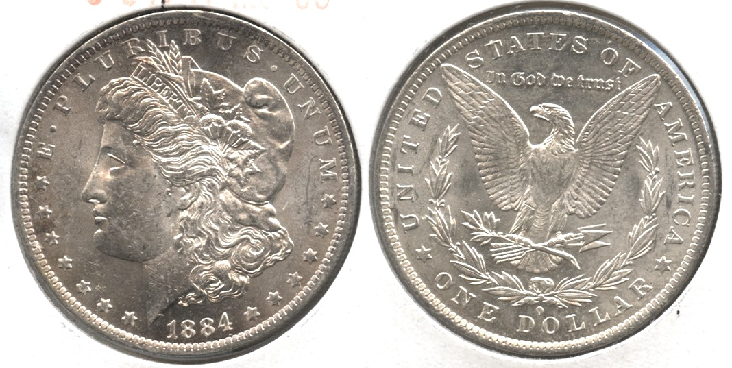 1884-O Morgan Silver Dollar MS-60 #h