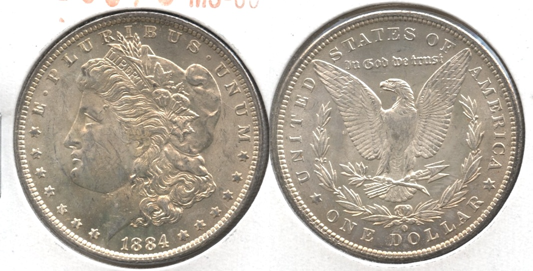 1884-O Morgan Silver Dollar MS-60 #j