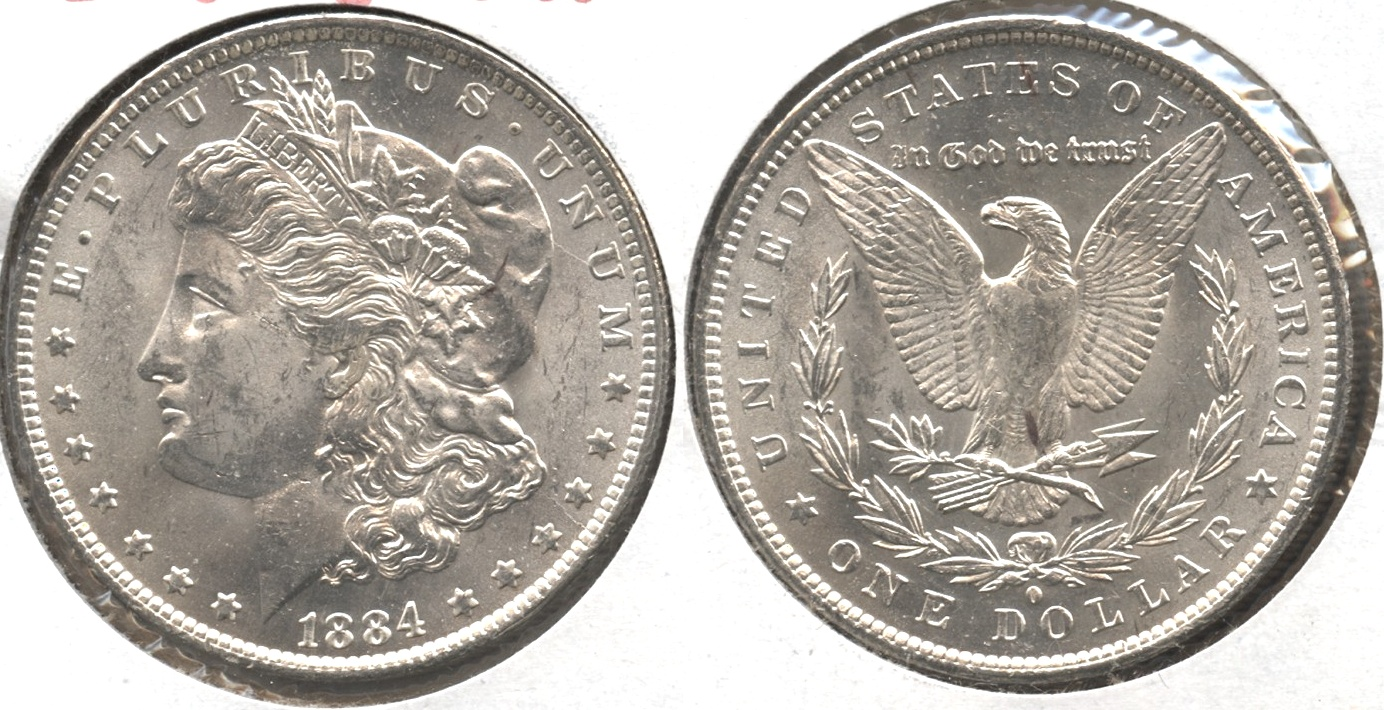 1884-O Morgan Silver Dollar MS-60 #p