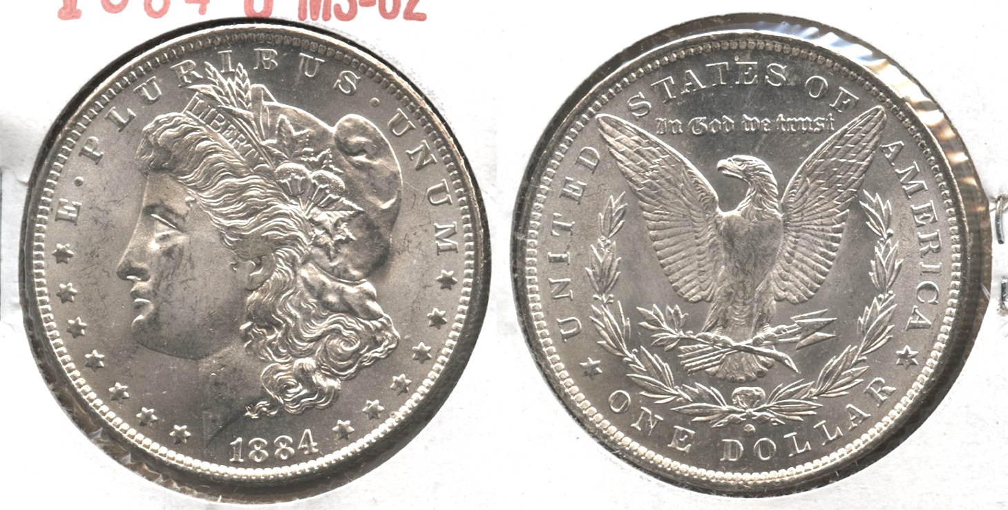 1884-O Morgan Silver Dollar MS-62 #q