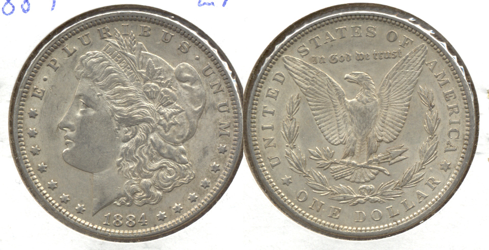 1884 Morgan Silver Dollar EF-40 b