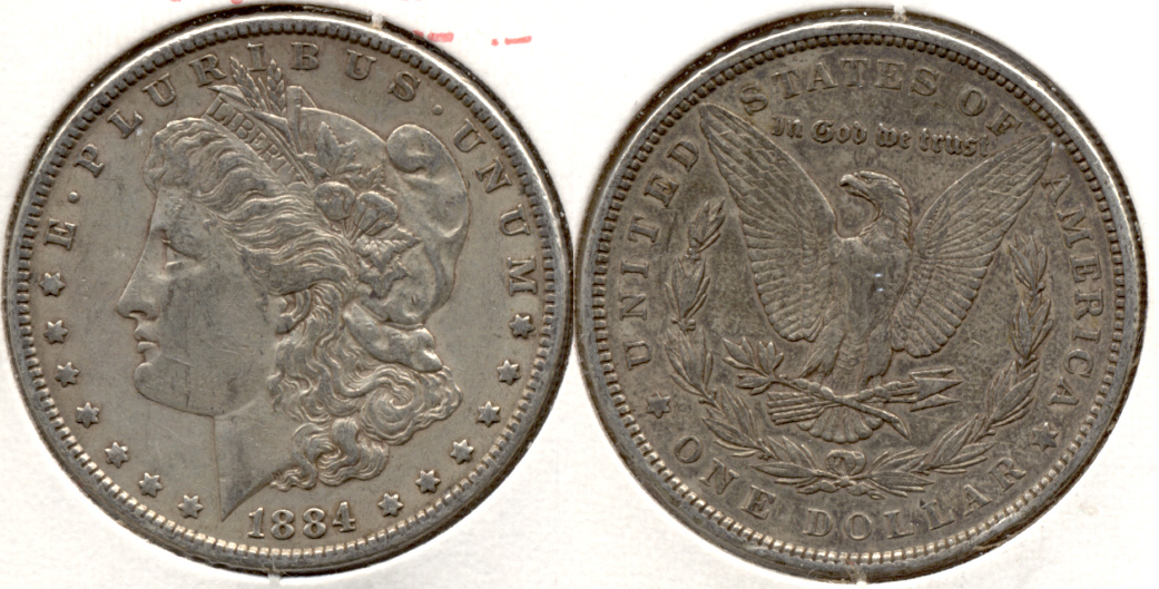 1884 Morgan Silver Dollar EF-40 c