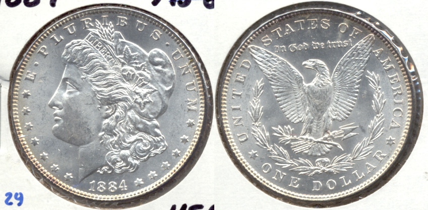 1884 Morgan Silver Dollar MS-63 b