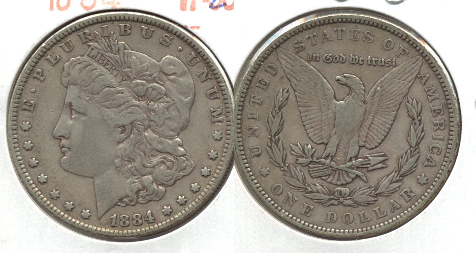 1884 Morgan Silver Dollar VF-20 b