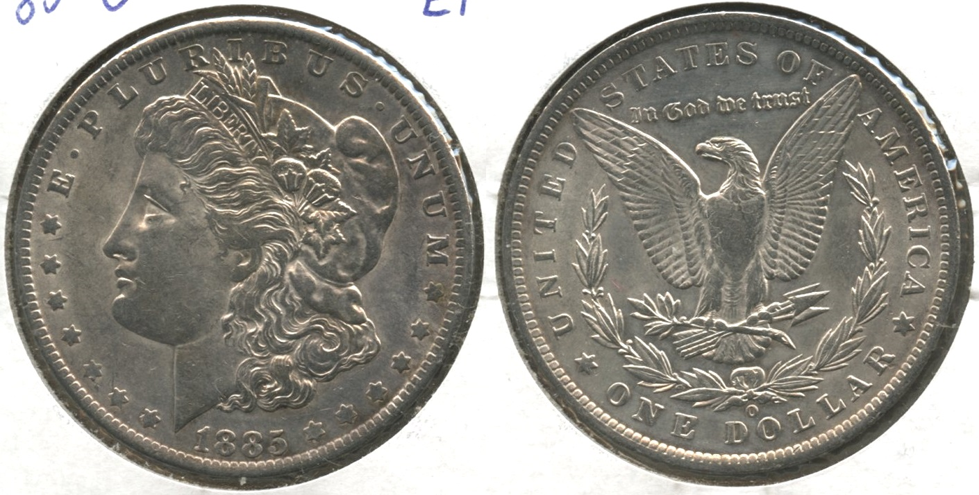 1885-O Morgan Silver Dollar EF-40 #n