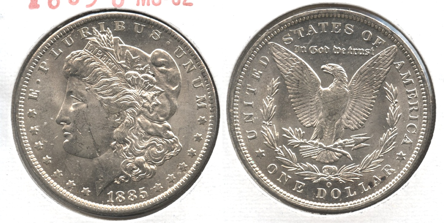 1885-O Morgan Silver Dollar MS-62 #m