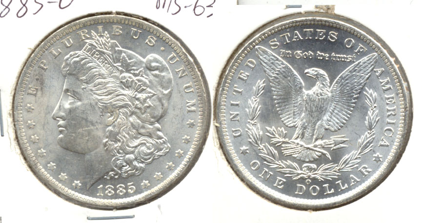 1885-O Morgan Silver Dollar MS-63 h