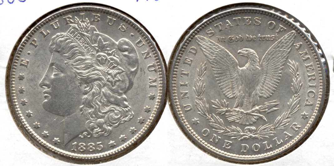 1885 Morgan Silver Dollar AU-50 f