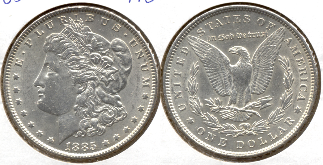 1885 Morgan Silver Dollar AU-50 g