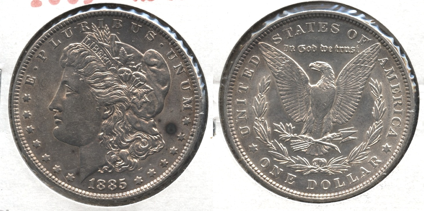 1885 Morgan Silver Dollar AU-50 #q