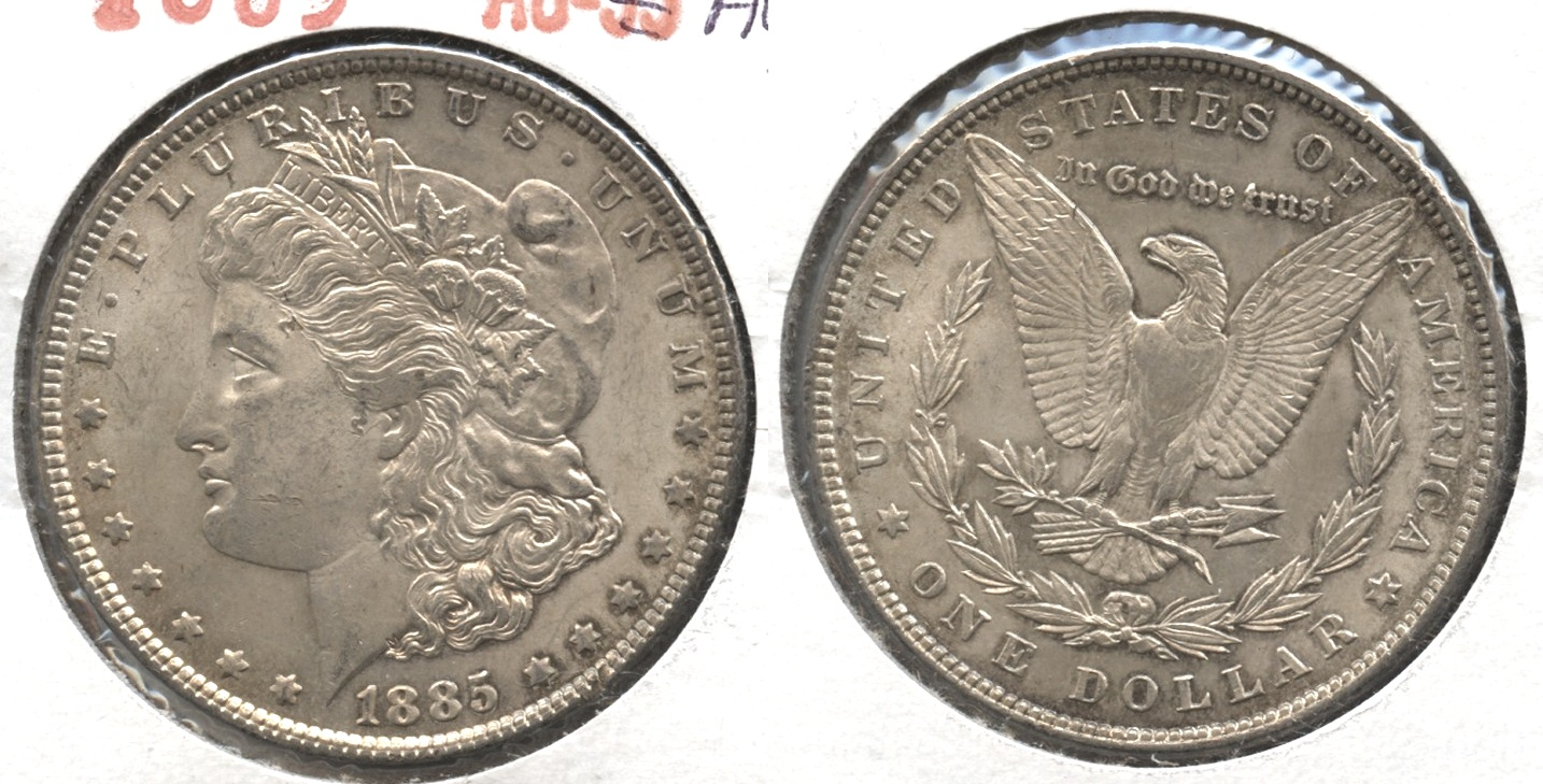 1885 Morgan Silver Dollar AU-50 #r