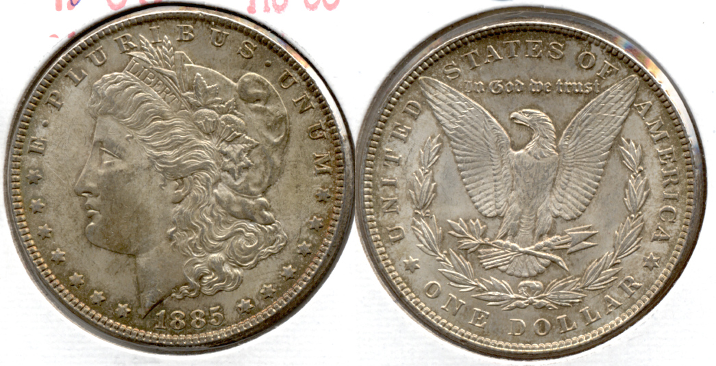 1885 Morgan Silver Dollar AU-55 c
