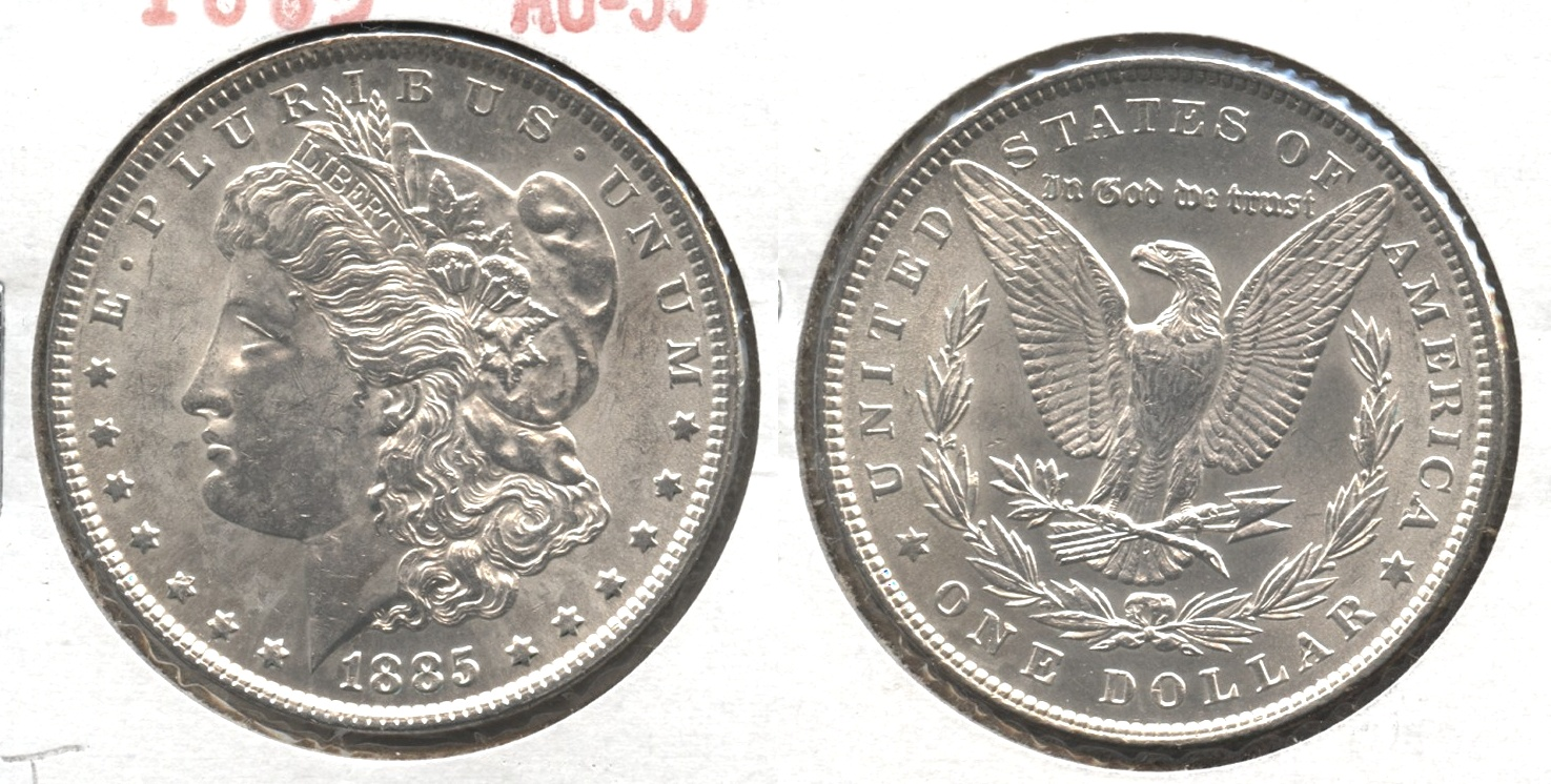 1885 Morgan Silver Dollar AU-55 #t