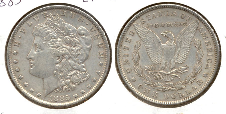 1885 Morgan Silver Dollar EF-45 c