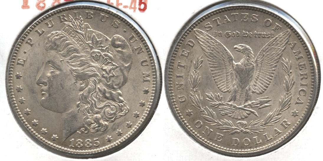 1885 Morgan Silver Dollar EF-45 #o