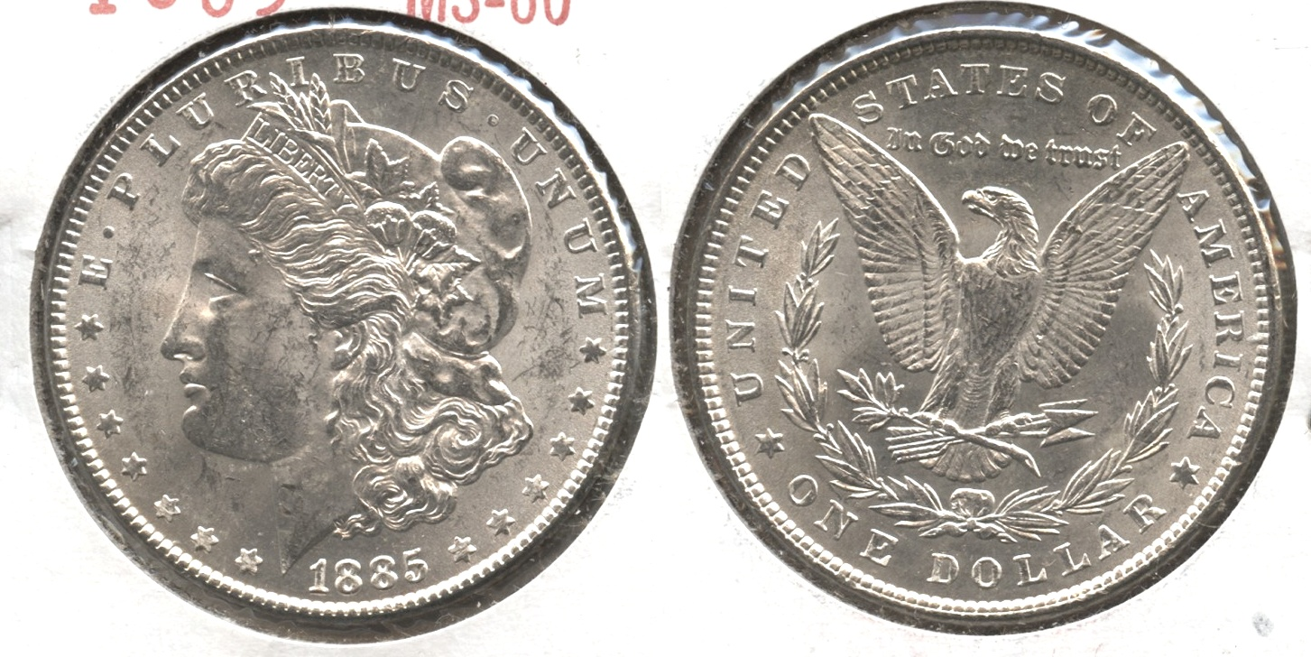 1885 Morgan Silver Dollar MS-60 #i