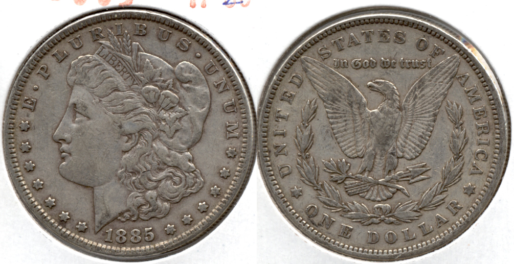 1885 Morgan Silver Dollar VF-20 f