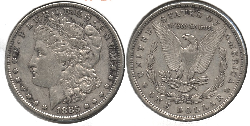 1885 Morgan Silver Dollar VF-20 h