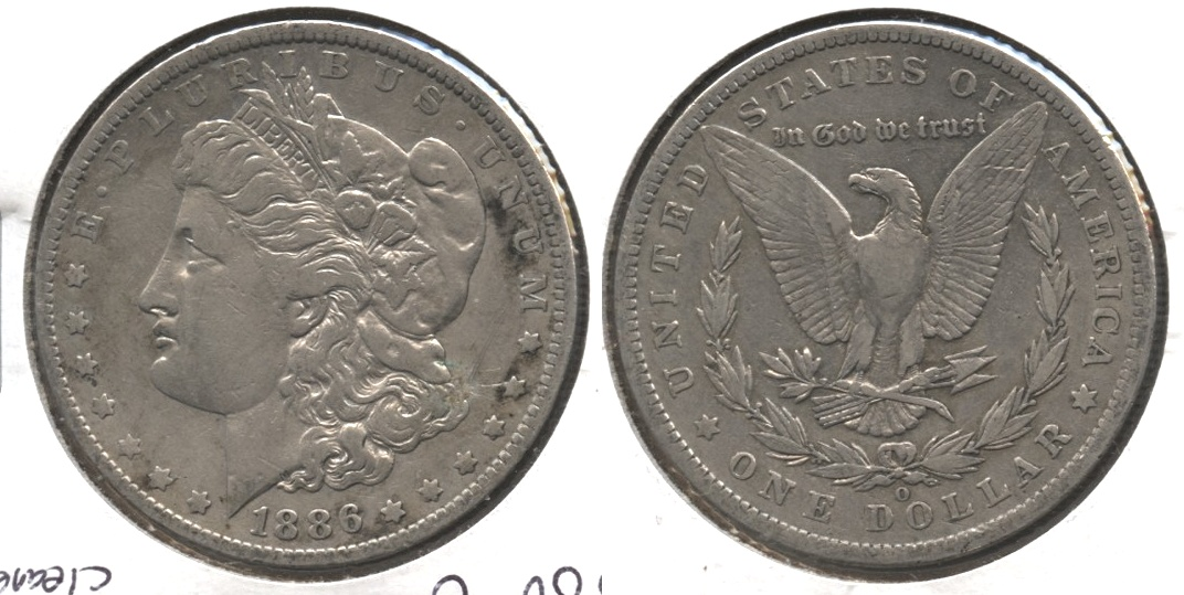 1886-O Morgan Silver Dollar VF-20 #a Cleaned