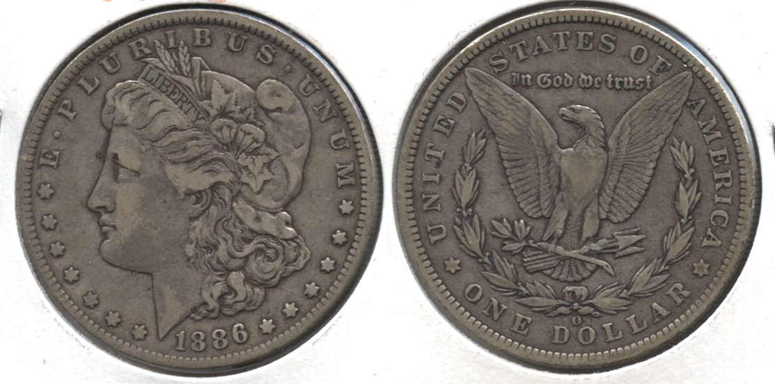 1886-O Morgan Silver Dollar VF-20 #b