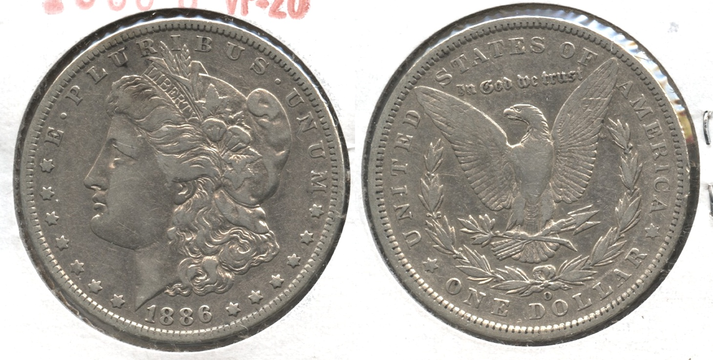 1886-O Morgan Silver Dollar VF-20 #d