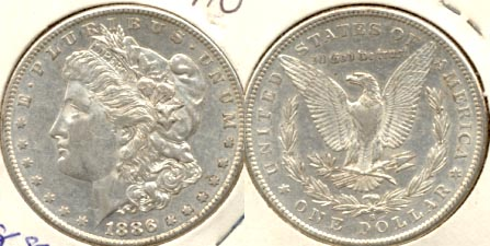 1886-S Morgan Silver Dollar AU-50