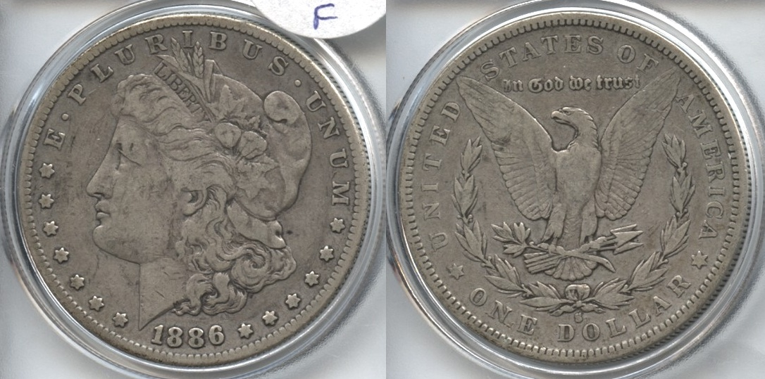 1886-S Morgan Silver Dollar Fine-12 VAM-1, Normal Die