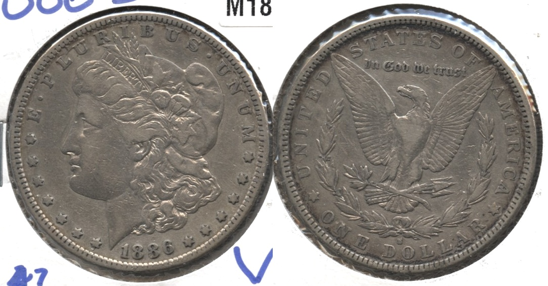 1886-S Morgan Silver Dollar Fine-15 Cleaned