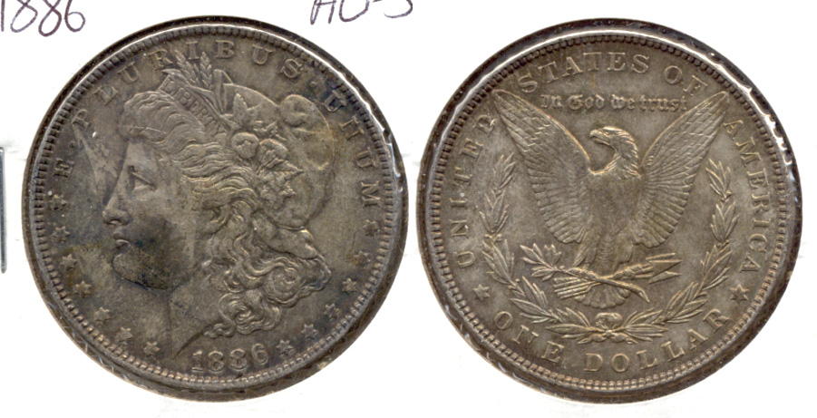 1886 Morgan Silver Dollar AU-50 a