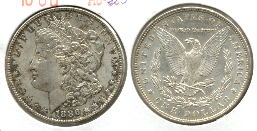 1886 Morgan Silver Dollar AU-50 e
