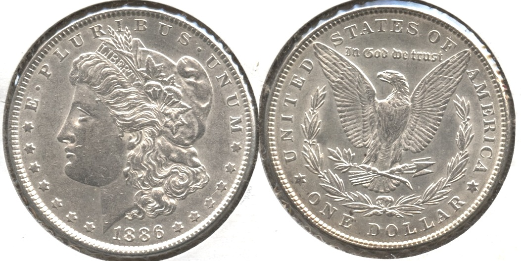 1886 Morgan Silver Dollar AU-50 #w