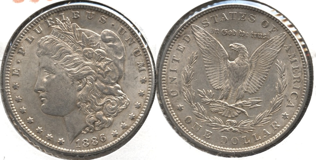 1886 Morgan Silver Dollar AU-50 #y