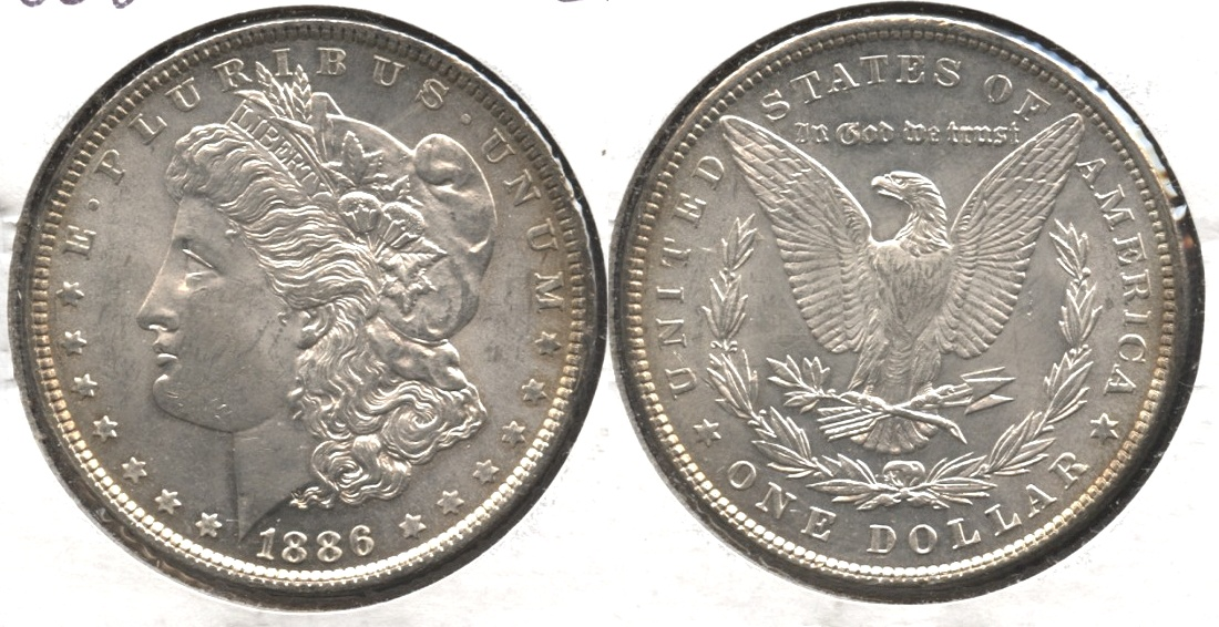 1886 Morgan Silver Dollar AU-55 #q
