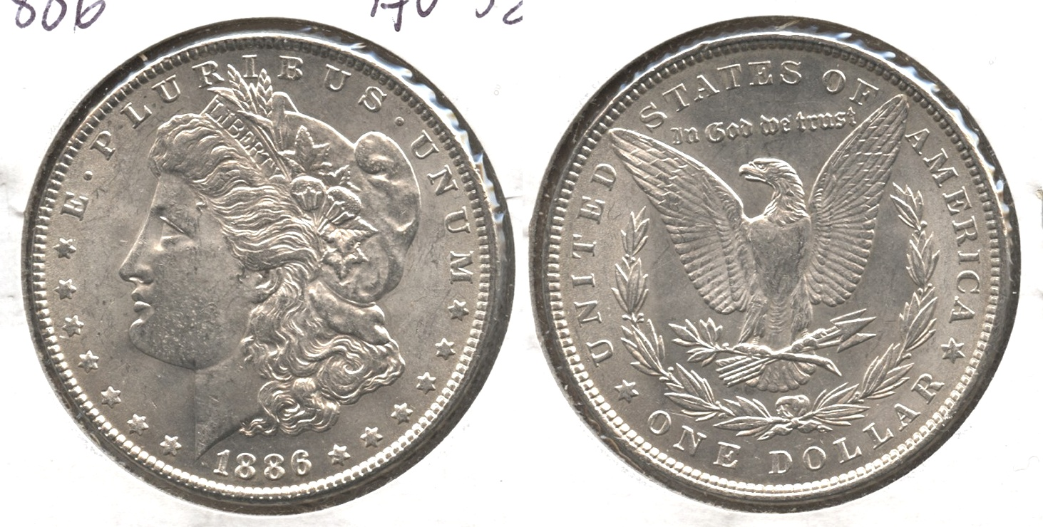 1886 Morgan Silver Dollar AU-58 #a