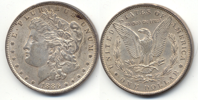1886 Morgan Silver Dollar EF-40