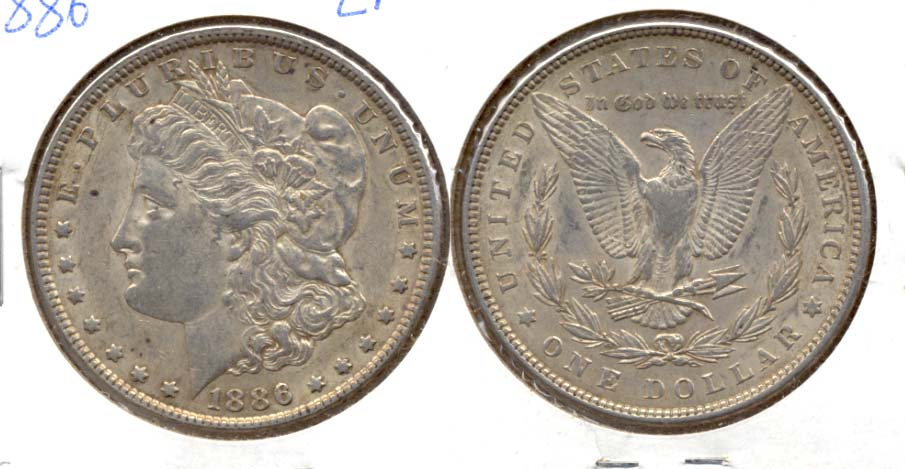 1886 Morgan Silver Dollar EF-40 c